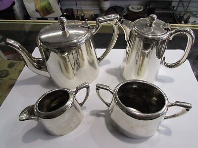 James Dixon and Sons 4 Piece Silver Plated Set
