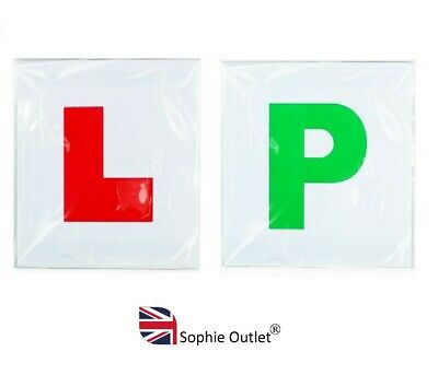 2 x MAGNETIC L & P PLATES Learner Driver Exterior Car Secure Safe Sign Plate GEM