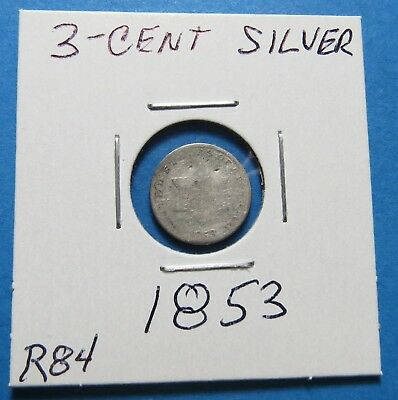 1853 Silver Three-Cent Piece ~ Very Nice ~ Combined Shipping Lot  R84