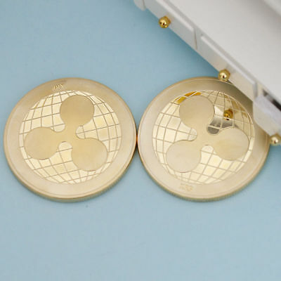 Ripple Coin Commemorative Round XRP Ripple Crypto Currency Plated Coin 1pc