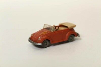 WW Volkswagen Beetle Cabriolet Brown Plastic Body 1/87 Scale HO Model Railway O2