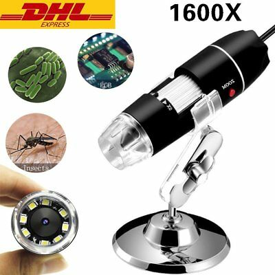 1600X USB Digital Mikroskop 2MP mit OTG Funktion Lupe Fach Endoskop 8 LED DE
