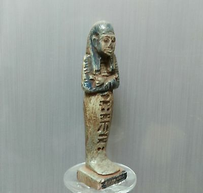 ANCIENT EGYPTIAN EGYPT Faience USHABTI statue (300-1500 BC)