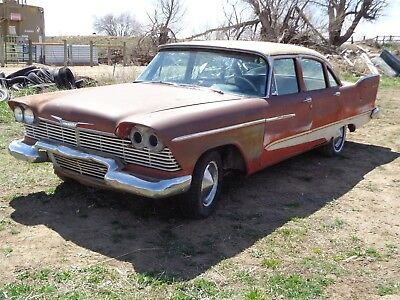 1958 Plymouth Other white/black 1958 Plymouth Savoy 4 Door Sedan Red White Project Car