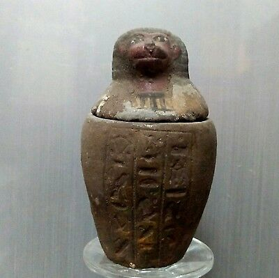 ANCIENT EGYPTIAN EGYPT stone son of Horus Canopic Jar Hapi (1500–300 BC)