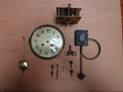 Two Train Antique Clock Movement Face And Gong Bezel And Convex Glass