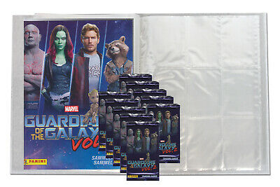 Panini - Marvel Guardians of the Galaxy Vol.2 LEERE Sammelmappe + 10 Booster
