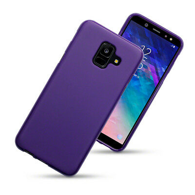 TPU Gel Case / Cover for Samsung Galaxy A6 2018 - Solid Purple Matte Finish