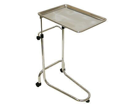 Stainless Steel Mayo Service Tray Medical Dentist Doctor Tattoo Salon Equipment