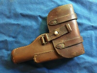 Vintage BELGIUM leather holster for BROWNING MODEL 1922 pistol   REPAIRED