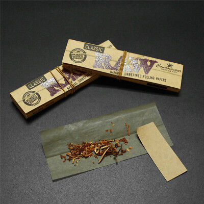 110mm 3PCS Booklets Natural Raw Classic King Size Slim Rolling Paper + Tips
