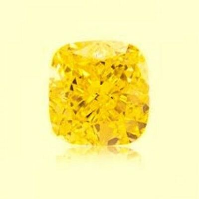 SAPHIR CUSHION JAUNE CANARI 10x10 mm. VRAC 5.60 CT. DURETÉ 9 DIAMANT-BRILLANT