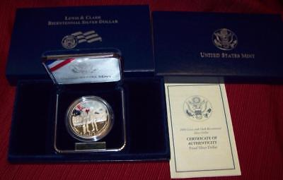 2004 P Lewis & Clark Proof Silver Dollar Coin $1 Special Edition Mint Box !!