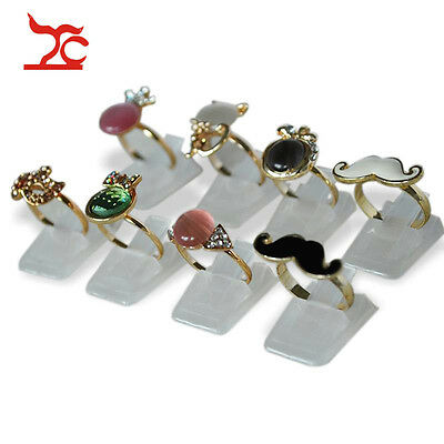 20pcs Hot Sale Portable Finger Rings Display Holder Jewelry Stand Clear Plastic