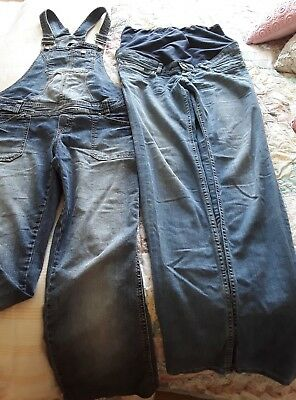 Size 12 Dungarees and jeans maternity clothes bundle