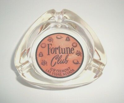 1950's Fortune Club casino Ashtray 109 Fremont downtown  Las Vegas Nevada