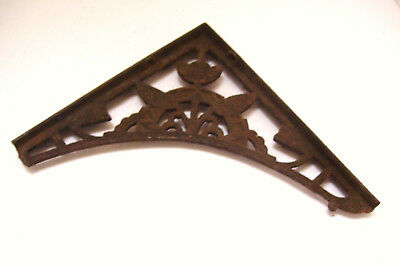 Antique Eastlake Cast Iron Bracket for Shelf or Hanging Plant - 9x8.25 Inches