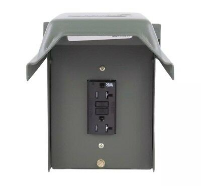GE U010010GRP 20 Amp Backyard Outlet With GFI Receptacle