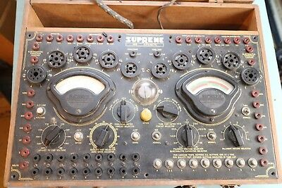 Supreme 385 Vintage Tube Tester Ham Radio Tube Audio