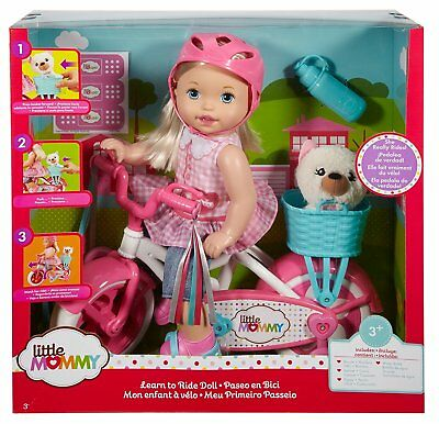 Fisher Price Little Mommy Learn To Ride Doll FCN11 NEW