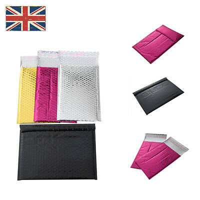 Colorful & Shiny Metallic Foil Bubble Wrap Lined Padded Mailing Envelopes /Bags
