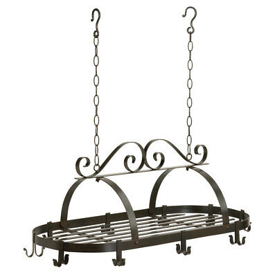 Hanging Pot Racks, Kitchen Overhead Pot Rack, Antique Iron Hanging Pot Holder
