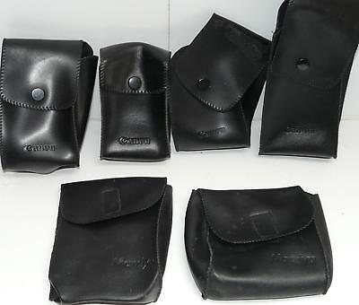 Job Lot of 6x Vintage Black Canon & Mamiya Flash Cases
