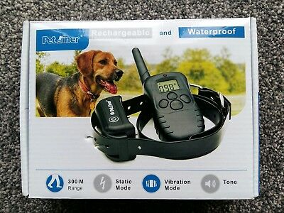 Waterproof Rechargeable Electric E-Collar Pet Dog Training Collar Shock Remote