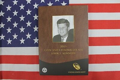 2015 Coin and Chronicles Set John F Kennedy United States Mint Box & COA