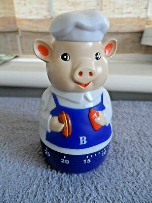 New  In  Box   Pig     Cooking  Timer     Mechanical