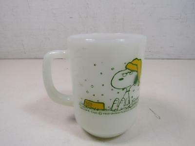 Vintage Fire King Snoopy I Hate it When it Snows on my French Toast Mug White