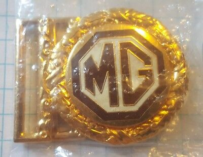 Mint MG Midget Gold Belt Buckle British Leyland