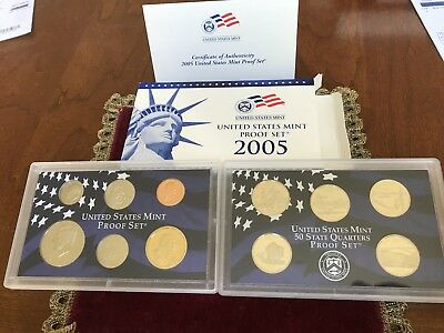 2005 S U.S. Mint 11 coin Clad Proof Set with box & COA / original packaging