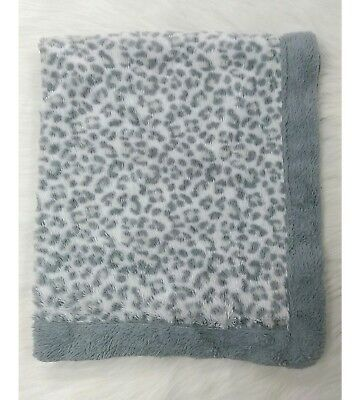Kyle & Deena Baby Blanket Leopard Cheetah Gray White Plush Furry Boy Girl  B63