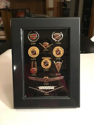 Collectible Cadillac 1902-2000 Emblem Wearable Pins From GM