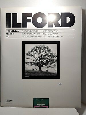 Ilford Photographic Paper 16x20 18pc in 2 Pack 1 Pack opened 33A702C68 (wirshlf)