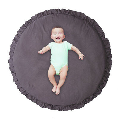 Baby Game Mat Solid Color Lace Play Crawl Round Mat Cart Air-conditioned Rug