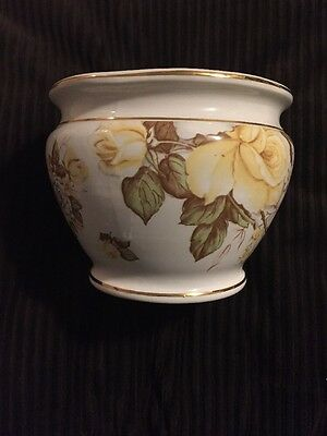 """Vintage Facciolini Castelli Signed Art Pottery 6.5"""" Planter - Made In Italy"""