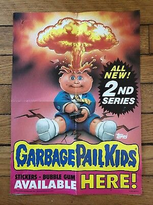 1985 Topps Garbage Pail Kids All New! 2nd Series Box Fresh Poster Very HTF 🔥