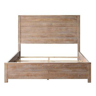 FULL Size Wood Bed Frame Rustic Country Headboard Footboard Distressed Pine