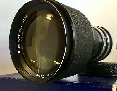 Carl Zeiss Super-Dynarex 200 mm F4 BM For ICAREX WITH CASE & Box In Excellent ++