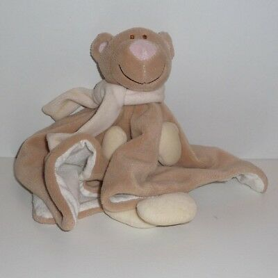 Doudou Ours Jollybaby - Echarpe Rose