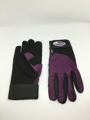 Purple Synthetic Riding Gloves