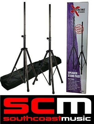 XTREME SS252 PA LOUD SPEAKER STANDS HEAVY DUTY PORTABLE SPEAKERSTANDS w/ BAG