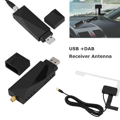 USB DAB+Digital Radio Receiver Amplified Aerial Antenna for Car Android SMA plug