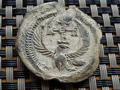 Wow Authentic Byzantine Medieval Lead Seal Circa 500-1300 Ad Top Quality