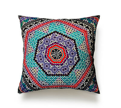 Pillow, Mint Turkish Tiles Square Pillow