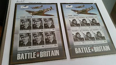 British Indian Ocean Territory 2010 Sg 431-436  70Th Anniv Of Battle Of Brit Mnh