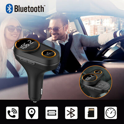 Auto FM Transmitter Bluetooth KFZ Radio Adapter MP3 Player Freisprechanlage TF