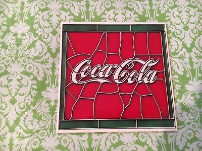 Coca-Cola Trivet Stained Glass Look